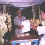 Sunil Paul distributing Gospel Tracts